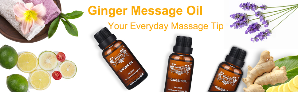 Ginger Essential Oil, Ginger Oil for Lymphatic Drainage, Hair ...