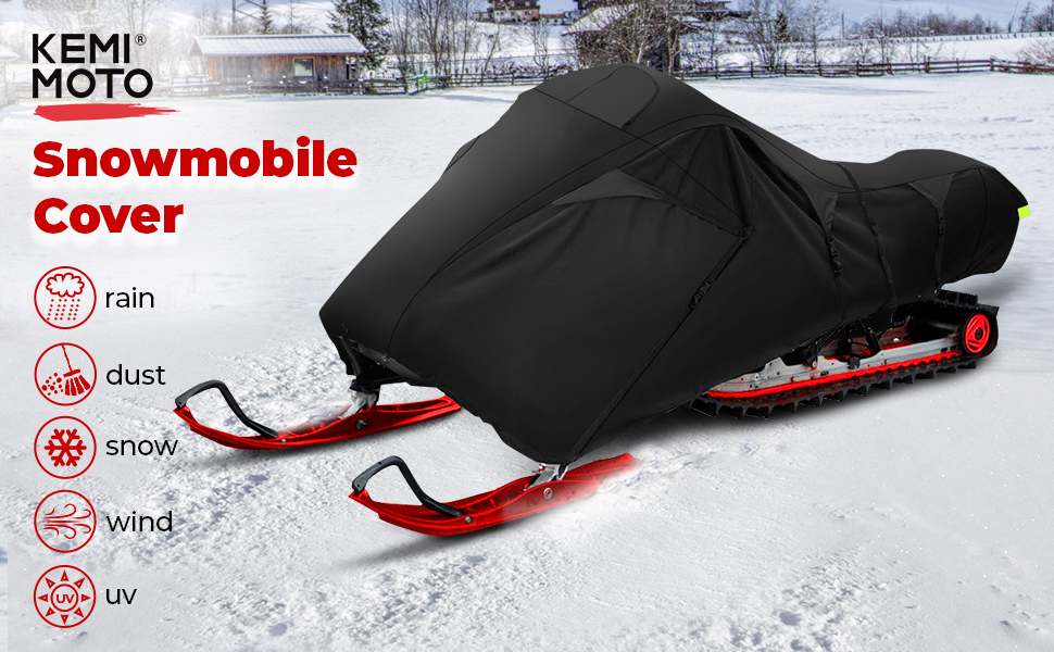 KEMIMOTO SNOWMOBILE COVER SLED SKI DOO COVER snowsled  trailerable snowmobile cover