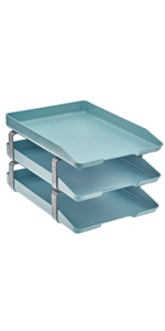 acrimet traditional letter tray 3 tier front load solid green color
