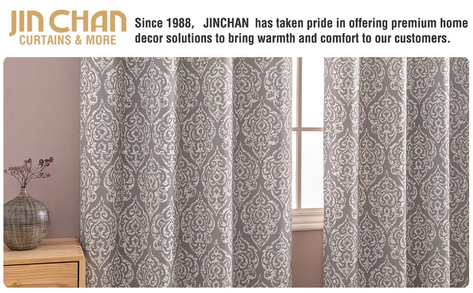 jinchan Blackout Curtains
