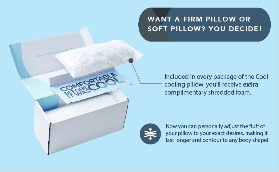 codi, memory foam pillow, pillow case, deocr pillow