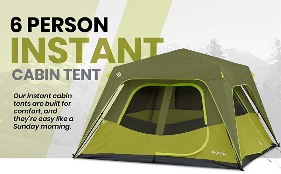 6 person instant cabin pop up tent easy set up camping tent all weather water proof floor tent
