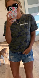 Camo Graphic Tee Shirt