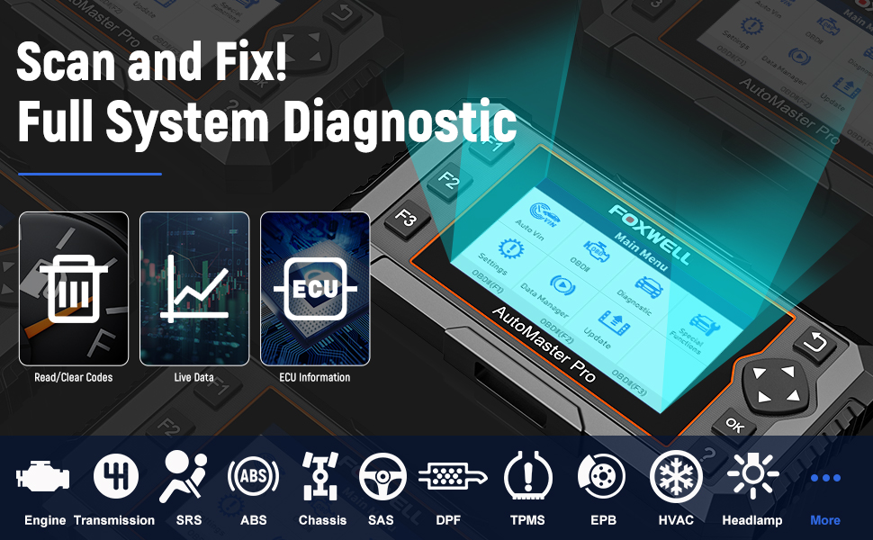 foxwell obd2 scanner car diagnostic scanner for all cars foxwell scanner foxwell nt644 elite foxwell