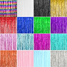 colorful tinsel curtain
