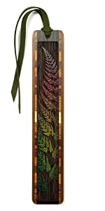 High-quality laser engraving of a sword fern combined with brilliant color