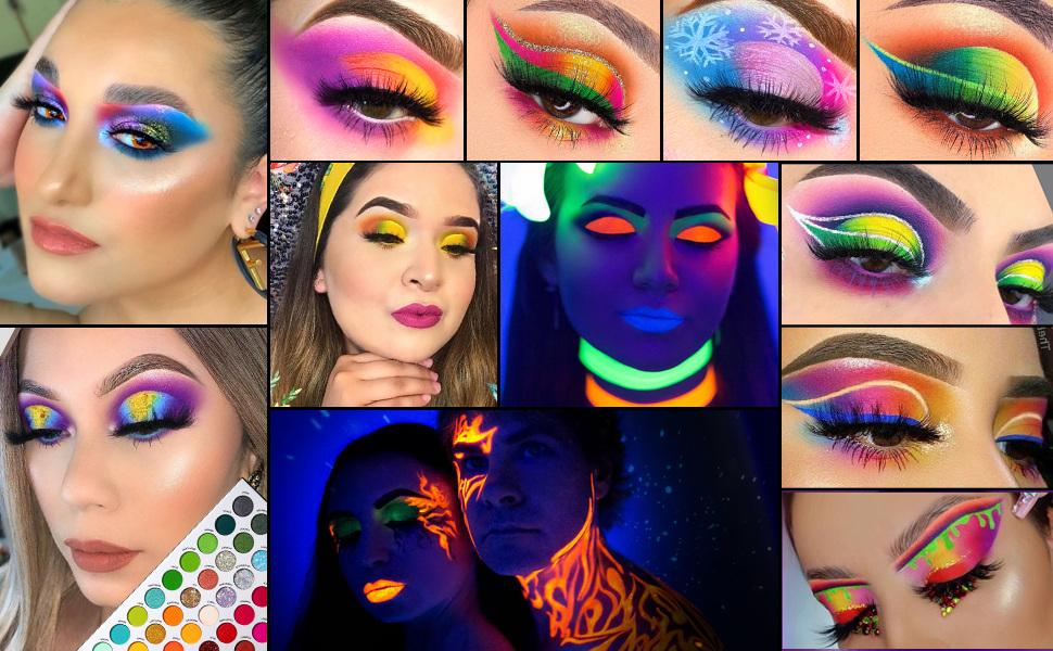 Colorful makeup art