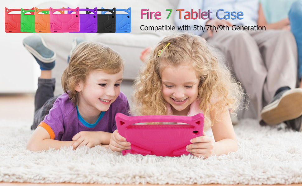 amazon fire case for kids 7 inch tablet case stand with handle