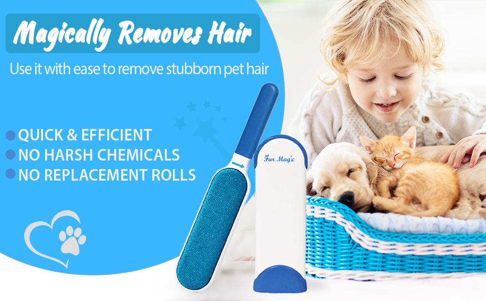 Fur Magic brush remove pet dog cat hair alternative to lint roller reusable