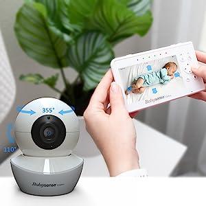 Babysense video Monitor V43 Pan tilt zoom