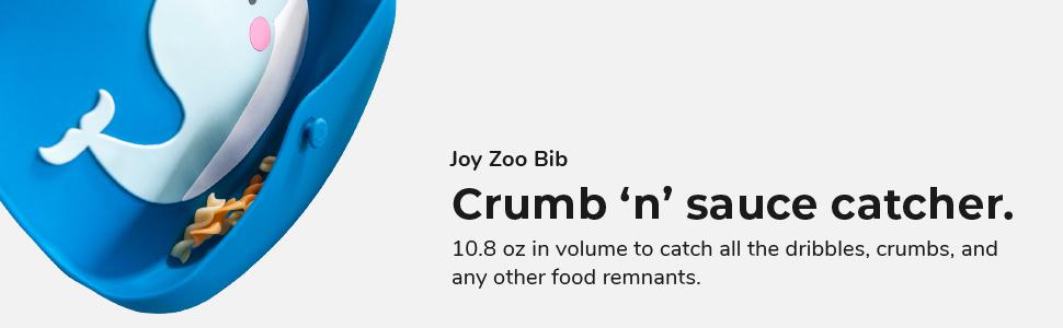 VIIDA, joy zoo bibs, kids bibs, children bibs, baby bibs, food-grade silicone, waterproof, portable