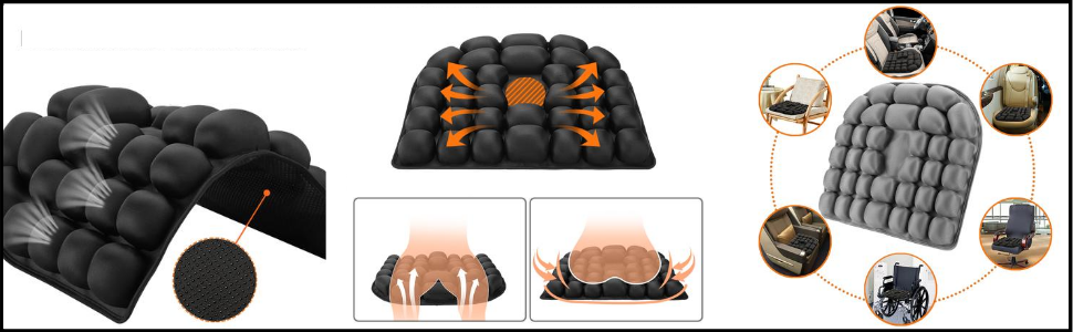 inflatable air seat cushion pads
