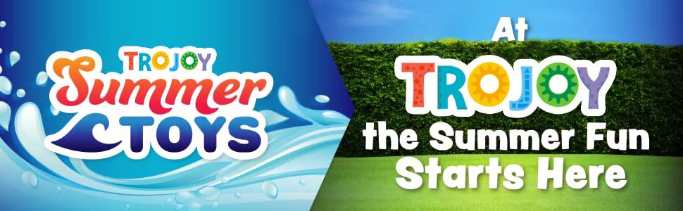 Enjoy the summer fun in your own backyard TROJOY summer sprinkler toys for kids and toddler
