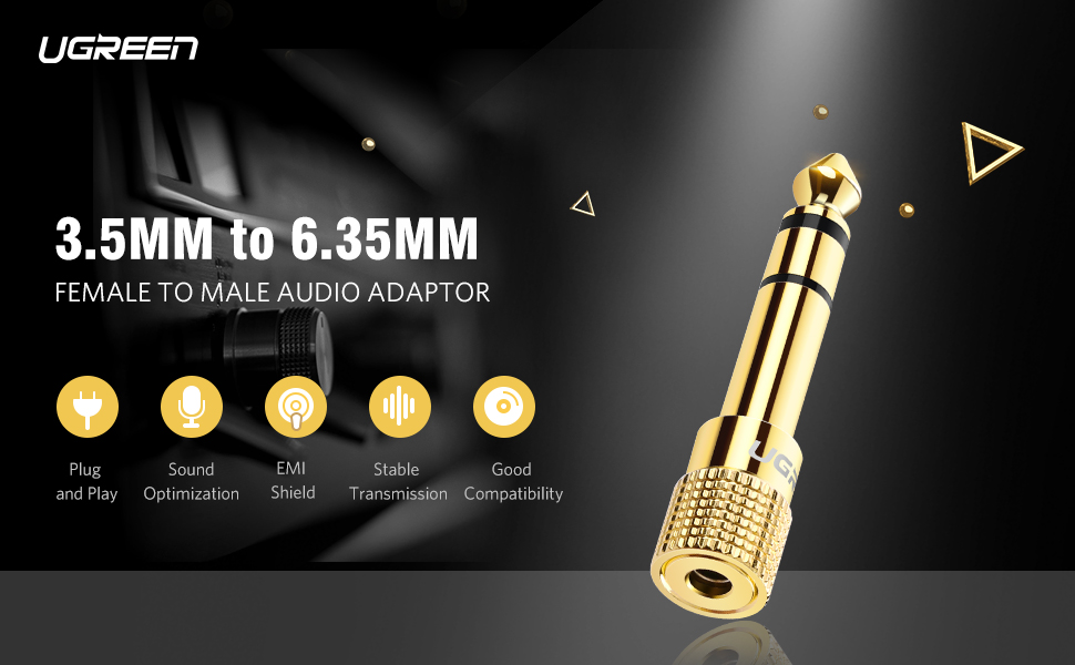 Female Stereo Audio Adapter Gold Plated