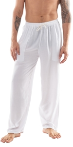 mens womens casual flowy comfy baggy summer beach dance pajama yoga pants rayon with pockets