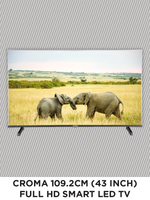 Croma 109.2cm (43 inch) Full-HD LED Smart TV