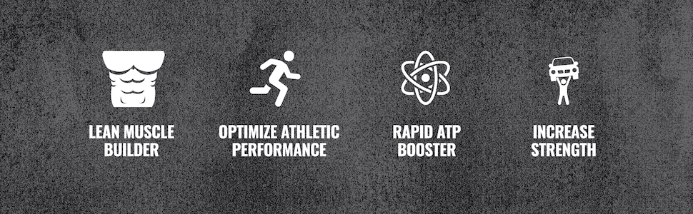 Lean Muscle Builder, Optimize Athletic Performance, Rapid ATP Booster, Increase Strength