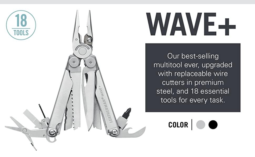 Leatherman Wave Plus, Multipurpose Tool, Multitool, Wire Cutters, Scissors