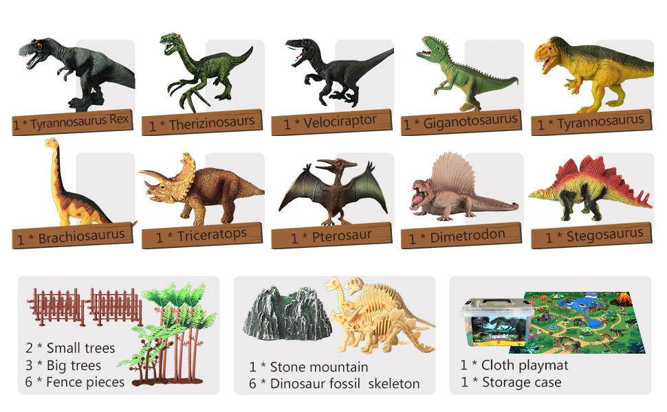 10pcs dinosaurs