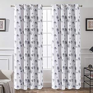 dandelion curtain 52 84 gray