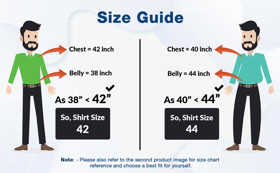 Levizo Size Chart | Levizo Shirts |