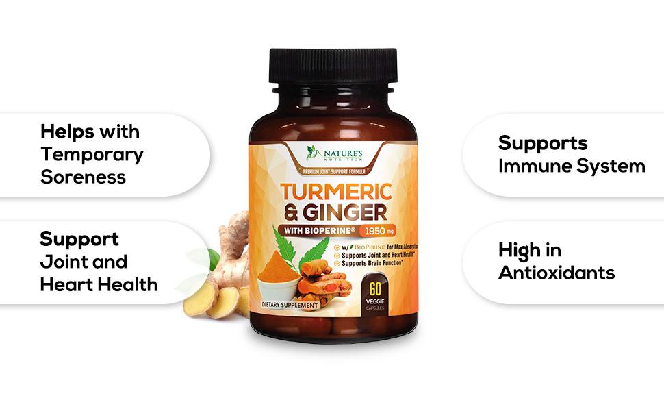 Turmeric Ginger with Bioperine black pepper