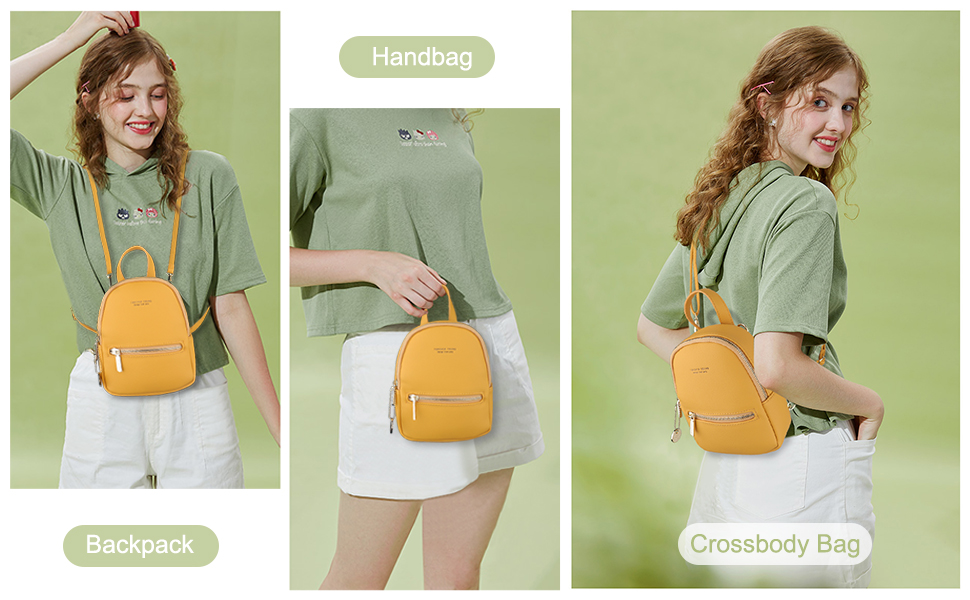 Women mini backpack purse