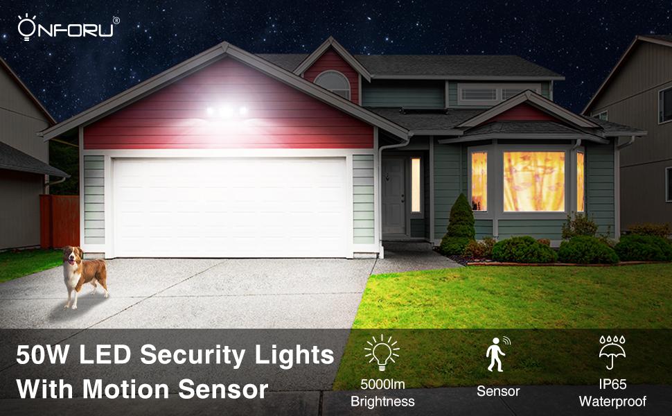 50W PIR LED Security Lights with motion sensor