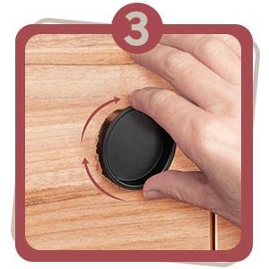 easy steps jnd jack n drill round finger pull diy installation instruction improvement home