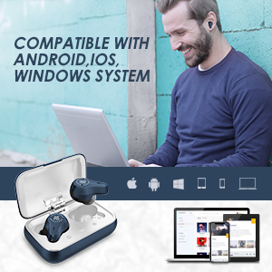 mifo 07 wireless earbuds for android ios and windows system easy to use wireless ear buds for work