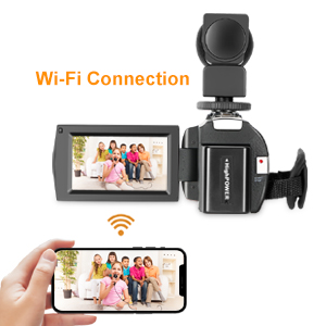 4K Camcorder With WIFI Connection Function