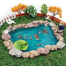 mini fairy garden koi pond accessories supplies tools