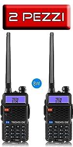 COPPIA RADIO TI-F8+ UV-5R BAOFENG