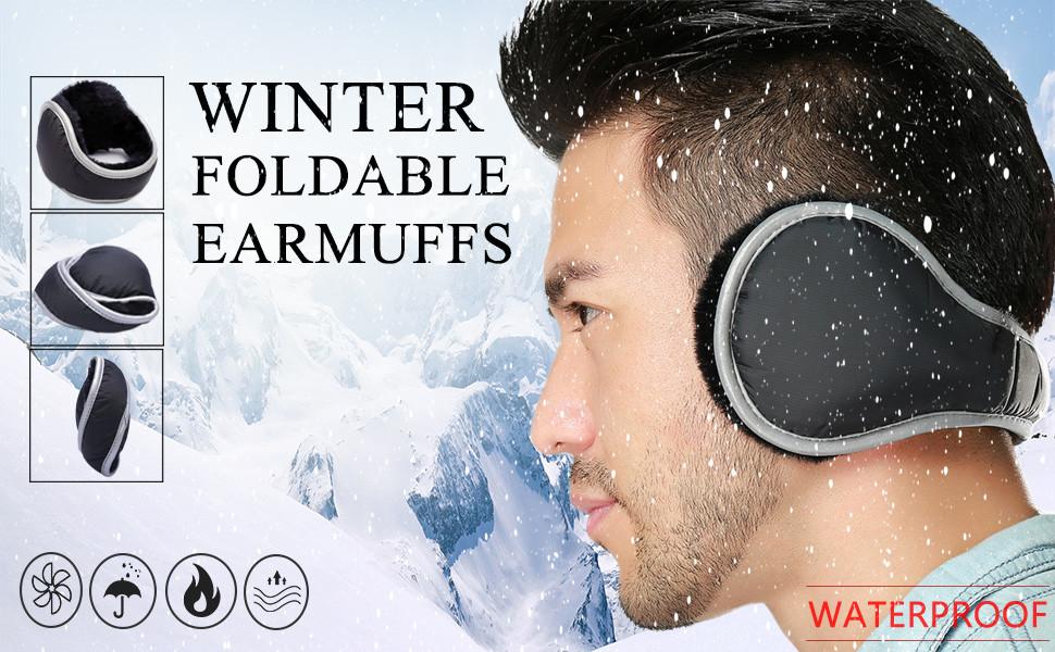 Ear Muffs Warmers Winter Earmuffs Men Women Foldable Size Adjustable Waterproof