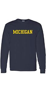 NCAA Basic Block Adult Long Sleeve T Shirt
