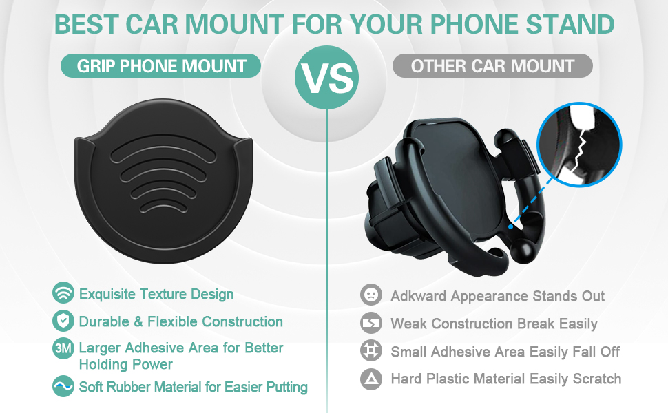 car phone holder for expanding stand