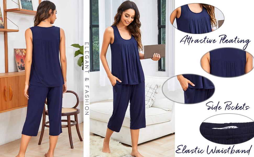 soft sleepwear set  lightweight pjs set women casual wear