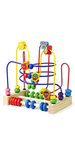 Wooden Fruits Bead Maze