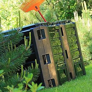 Sol décomposition bactérienne déchets de jardin et cuisine remplissage simple à assembler plastique
