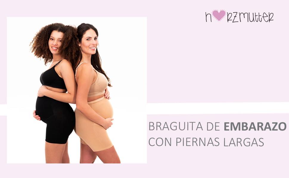 Herzmutter Mallas de Maternidad con piernas largas - Bragas de ...
