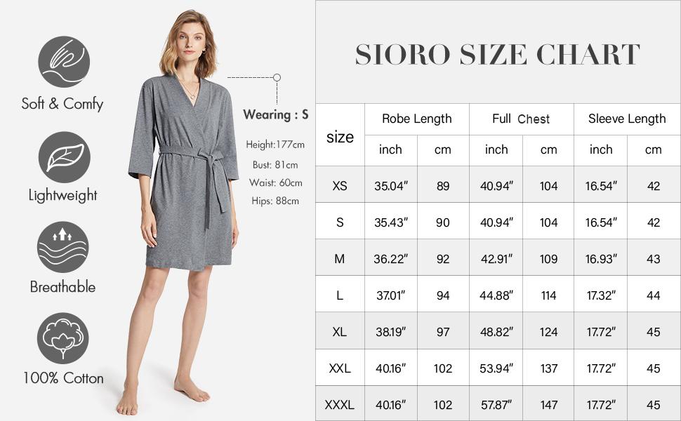 100% cotton robe