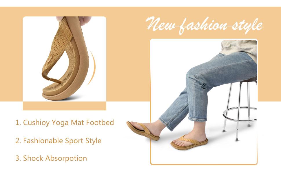 womens cushion yoga mat inslole thong sandals