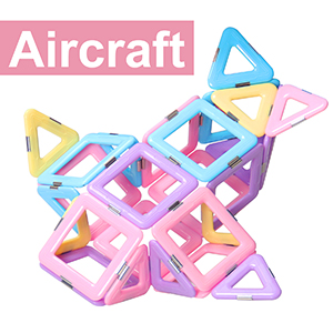 Castle Magnetic Blocks - Learning & Development Magnetic Tiles Building Blocks Kids Toys