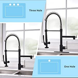 1 or 3 holes sink