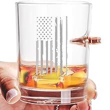 308 Caliber Bullet Whiskey Rock Glass