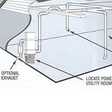 central vacuum system layout plan