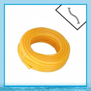 Flexible 0.5 inch and 15 m Long Garden Water Pipe with Hose Connector (Yellow)