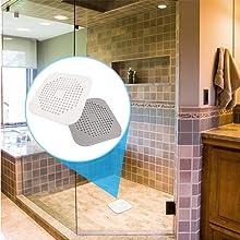 ExeQianming Lot de 4 bouchons de vidange de douche carr/és en silicone avec ventouse pour salle de bain baignoire /évier cuisine
