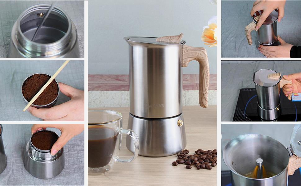 How to make coffee by Moka pot