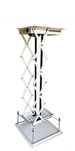 Nrpfell Soporte de Proyector Soporte Giratorio de 20-40 Cm Soporte de Suspensi/óN de Pared de Techo Soporte de Aluminio para C/áMara//Proyector